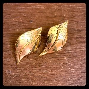 Laurel Burch Gold Leaf Earrings